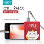 羅馬仕充電寶10000毫安超薄便攜卡通小巧迷你便攜移動電源適用于蘋果vivo華為OPPO手