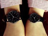 手錶女士學生韓版時尚潮流防水簡約夜光男錶皮帶女錶情侶手錶   花間公主