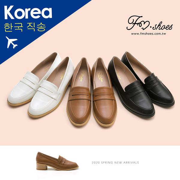 紳士鞋.韓-皮革木跟紳士鞋-大尺碼(白)-大尺碼-FM時尚美鞋-韓國精選.Salient