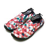 LIKA夢 LOTTO 多用途戶外休閒運動溯溪機能水鞋 AQUWEAR系列 幾何橘 0972 附收納袋 女