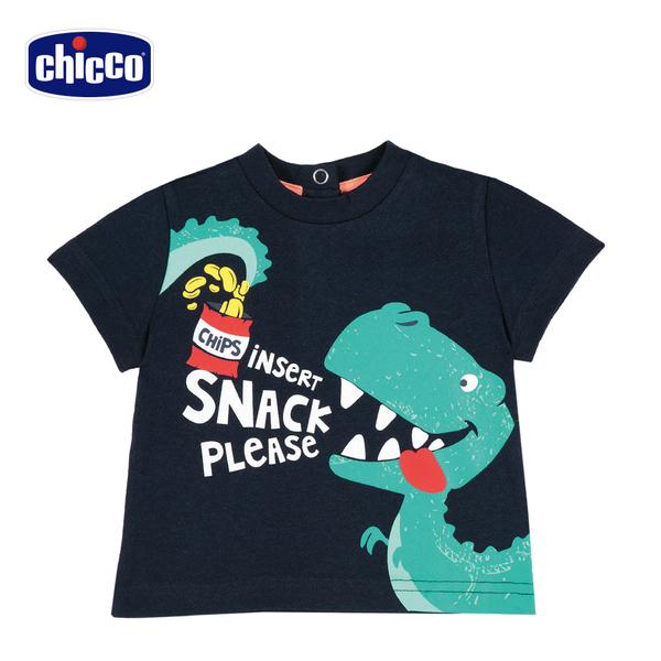 chicco-TO BE-恐龍短袖上衣