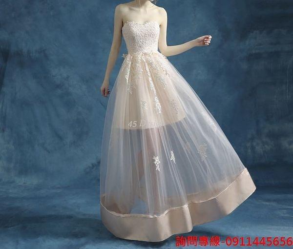 (45 Design)  訂做款式7天到貨  專業訂製 中大尺碼高檔定制 訂製手工婚紗禮服 主持表演走 綁帶款