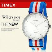 TIMEX 美國第一品牌 Waterbury INDIGLO 夜光指針錶 天美時 帆布 學院風 文青 TW2P91100