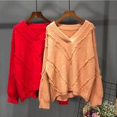 韓版毛衣女寬鬆中長短款港味復古針織衫