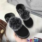 雪地靴 雪地靴女2021秋季新款冬季加絨短筒短靴子女學生百搭加厚保暖棉靴寶貝計畫 上新
