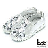 ★新品上市★【CUMAR】時尚品味鑽石真皮樂福鞋(銀)
