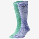 NIKE Everyday Plus 襪子 長襪 中筒襪 兩雙一組 緩震 紮染 藍綠【運動世界】DM3407-903