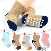 嬰兒襪子春秋冬季加厚保暖1-3-5歲寶寶純棉防滑底兒童無骨地板襪【街頭布衣】