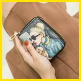 米印卡包女式韓國可愛個性迷你超薄風琴卡包小巧多卡位零錢包一體