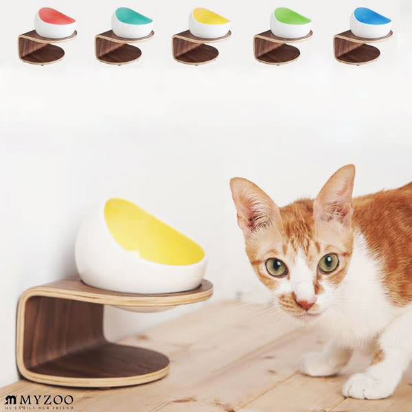 My zoo動物緣 時空膠囊碗(紅外線版) 貓籠 貓屋 貓咪窩 床頭櫃 寵物用品【SK0355】Loxin