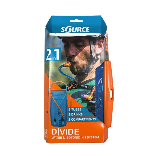 【以色列SOURCE】雙管抗菌水袋DIVIDE2061520102 (2L) / 城市綠洲 (登山、健行、單車、慢跑)