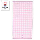 【震撼精品百貨】My Melody 美樂蒂~Sanrio 美樂蒂日本製今治純棉浴巾(粉格紋)#66920