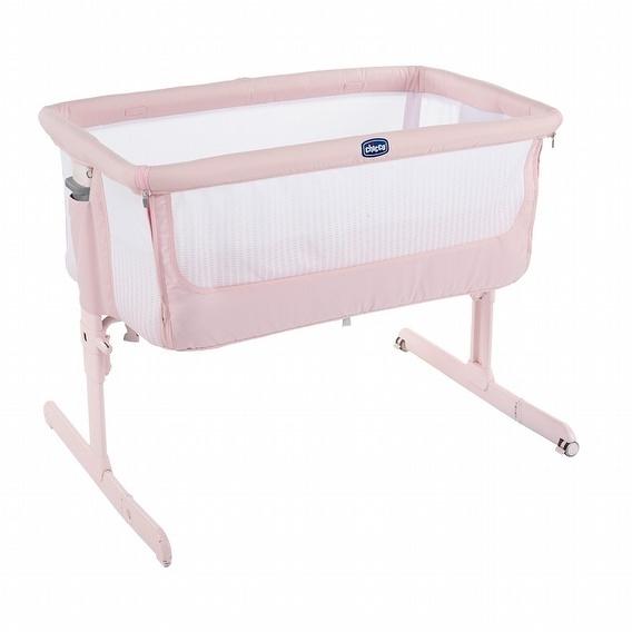 Chicco Next 2 Me多功能親密安撫嬰兒床邊床Air版-夢幻玫粉