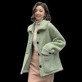 毛外套 羊羔毛外套女百搭秋冬韓版寬鬆網紅同款皮毛一體冬羊羔絨  芊墨左岸 上新