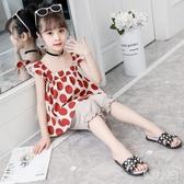 中大女童套裝春夏2020年夏季新款韓版女寶寶無袖吊帶兩件套薄款潮 yu12508『俏美人大尺碼』