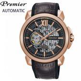 【萬年鐘錶】SEIKO Premier 開芯機械錶  限量款式 藍寶石水晶鏡面   防水百米 SSA374J1 (4R71-00A0K)