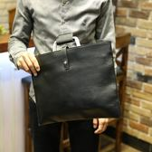 韓國男士手提包拎包單肩包斜跨包商務包復古信封包潮 可可鞋櫃