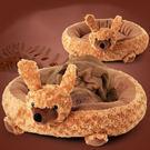 寵物窩 寵物床 狗窩 貓窩 玫瑰絨 保暖 寵物睡墊 貓屋 絨毛屋 小型犬 現貨 ☆米荻創意精品館