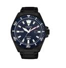 CITIZEN星辰光動能日潮紳藍腕錶 (黑X藍)