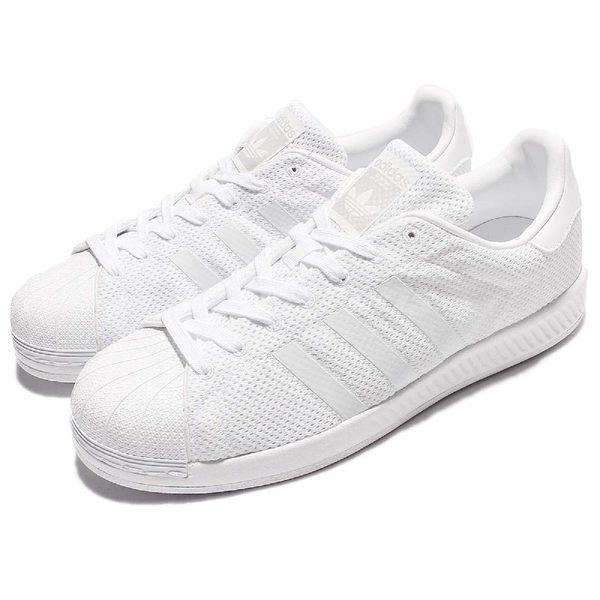 adidas 休閒鞋 Superstar Bounce 白 全白 基本款 回彈中底 運動鞋 男鞋【PUMP306】 S82236