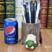 樹脂刺?可愛大筆筒創意時尚桌面擺件個性卡通動物實用裝筆收納盒88折,開學季,88折下殺