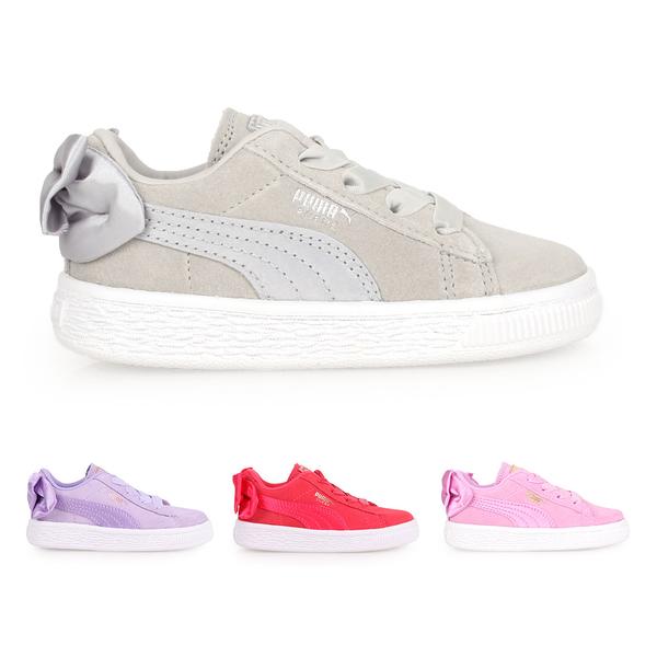 PUMA Suede Bow AC Inf 女兒童休閒運動鞋(蝴蝶結款)(慢跑 免運 ≡排汗專家≡