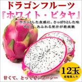 【果之蔬-全省免運】台灣彰化白肉火龍果【10台斤/箱(10-12顆入)】