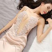 性感睡衣女夏季透明情趣連體修身露背制服誘惑內衣薄紗吊帶裙睡裙 全館八折 最後兩天