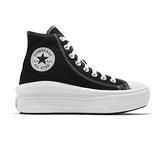Converse Chuck Taylor All Star Move 女鞋 黑白 厚底 增高 帆布鞋 568497C