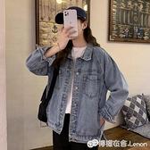 牛仔外套女春季新款韓版復古顯瘦寬鬆bf百搭學生牛仔夾克上衣 雙十二全館免運