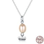 925純銀項鍊珍珠吊墜-時尚精美夢想熱氣球女飾品73og12【時尚巴黎】