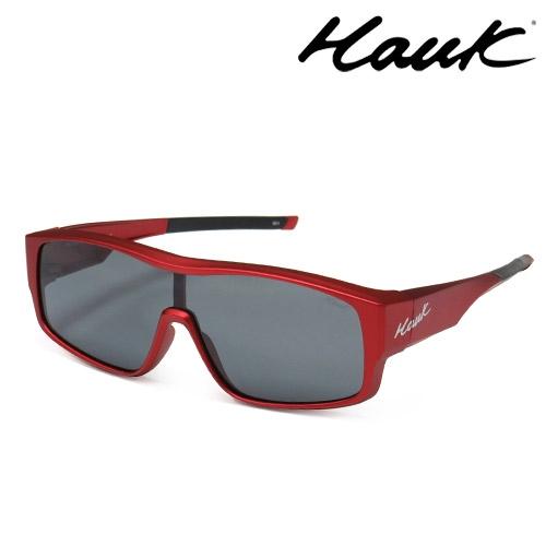 HAWK全片式運動風2用偏光太陽眼鏡 偏光套鏡(眼鏡族專用)HK1020-81