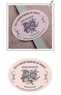 心動小羊^^橢圓復古花束6貼(每貼尺寸4cm*3.3cm)手工皂貼紙布丁貼紙烘焙袋定制封口貼熱賣款