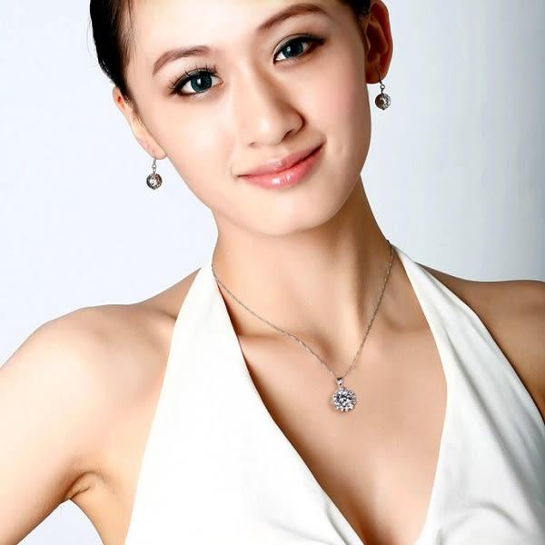 璀璨超閃S925純銀真愛大鋯石項鍊  (0692)