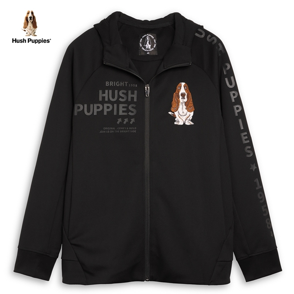 Hush Puppies 外套 男裝字母膠印拉克蘭袖連帽外套