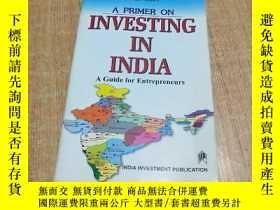 二手書博民逛書店A罕見PRIMER ON INVESTING IN INDIAY