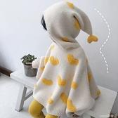 嬰兒斗篷 女童毛衣斗篷洋氣春秋新款女寶寶蝙蝠袖針織套頭毛衣外套嬰兒披風 coco