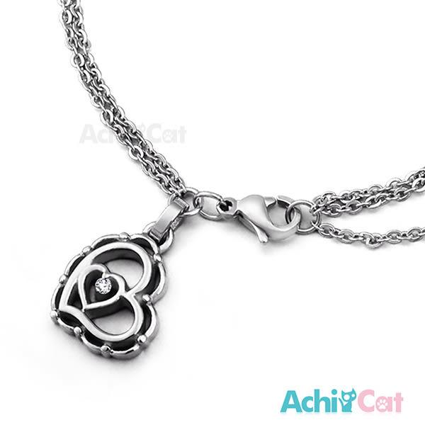 鋼手鍊 AchiCat 珠寶白鋼 花漾女孩 愛心