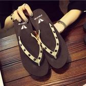 新品人字拖女夾腳拖鞋女夏外穿韓版時尚防滑海邊夾腳學生涼拖鞋女 【快速出貨】