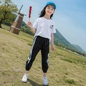 女童運動套裝 女童夏裝套裝2021新款洋氣中大童夏季運動女孩兒童兩件套12歲 快速出貨