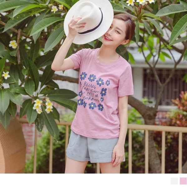 台灣製造。高含棉印花短袖上衣 OrangeBear《AB15977》