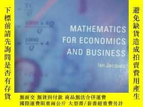 二手書博民逛書店Mathematics罕見for Economics and B