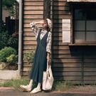 Queen Shop【01085142】交叉V領棉質吊帶洋裝 兩色售*現+預*