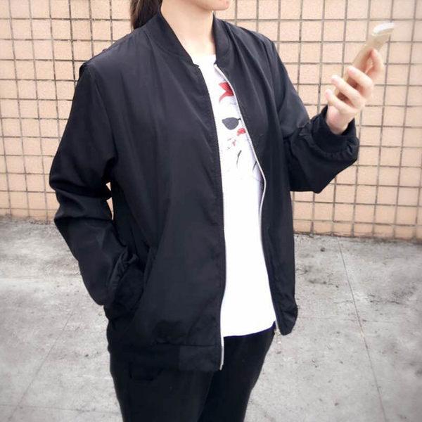 外套 韓妞最愛MA-1休閒飛行外套薄款防曬外套【C3001-1】☆雙兒網☆