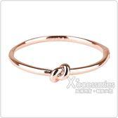 kate spade經典水手結設計扣式手環(玫瑰金)