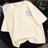 短袖t恤女夏裝體桖2021年新款寬鬆網紅純棉半袖女裝夏季上衣ins潮 ATF艾瑞斯「快速出貨」