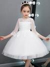 女童禮服公主裙女童連衣裙蓬蓬紗中大童小主持鋼琴演出服兒童高端禮服洋氣