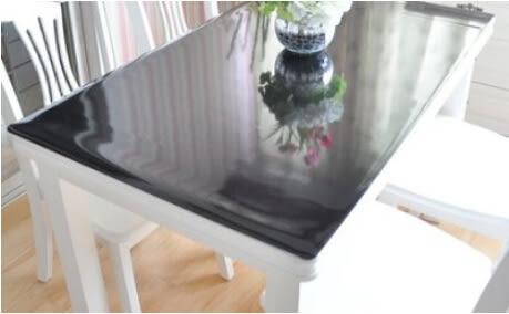 黑色磨砂桌墊  透明餐桌茶幾墊  60*100公分  可定做【藍星居家】