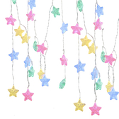 USB星星燈串-裂紋五角星(四彩光)