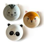 可愛卡通陶瓷碗日式創意寶寶小碗兒童湯碗吃飯碗早餐家用餐具
